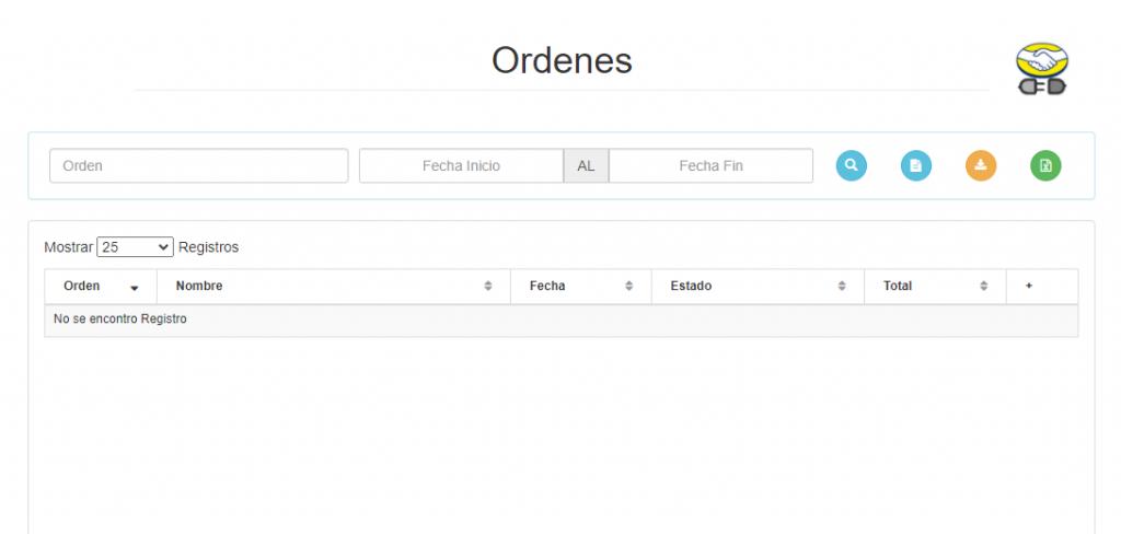 Listado de Ordenes - MeLi - Portal Facturación
